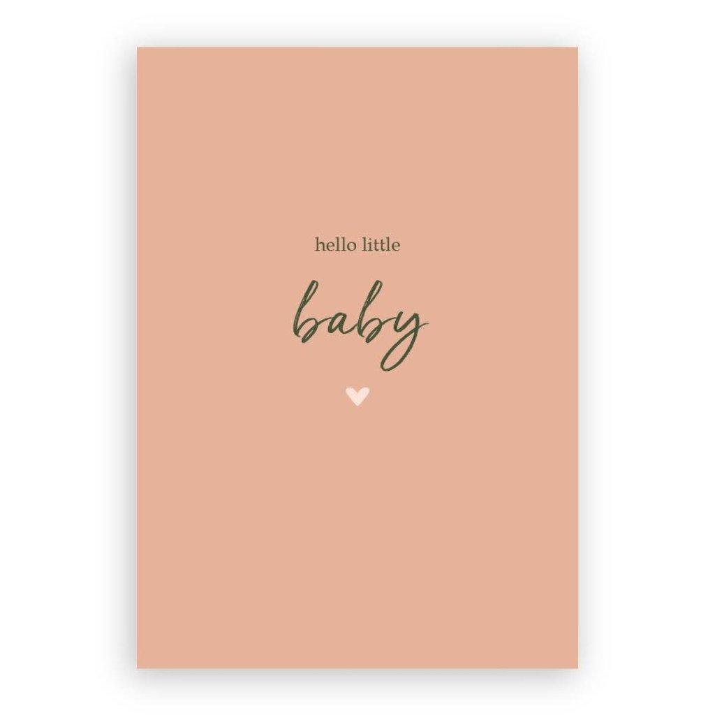 Stukske geluk Stukske geluk kaart 'hello little baby'