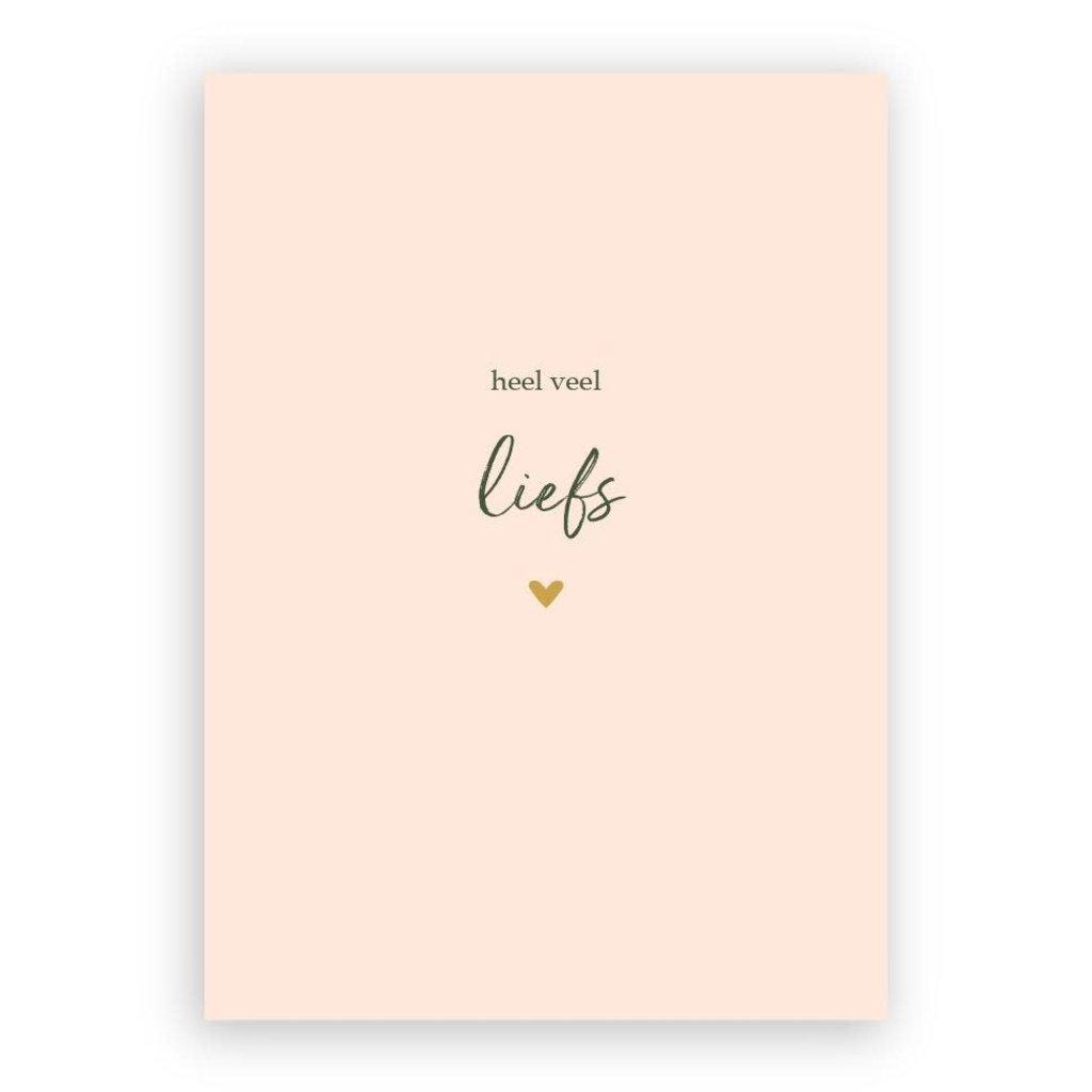 Stukske geluk Stukske geluk kaart 'heel veel liefs'