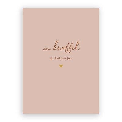 Stukske geluk Stukske geluk kaart 'dikke knuffel ik denk aan jou'