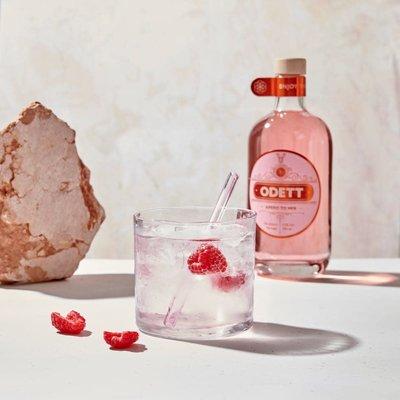 Odett ODETT aperitief 500 ml Raspberry & Rose petals