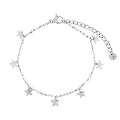 Essentialistics Essentialistics armbandje sterren - zilver