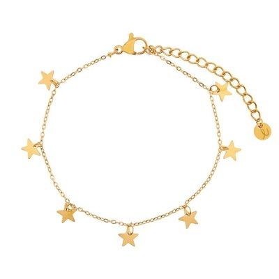 Essentialistics Essentialistics armbandje sterren - goud