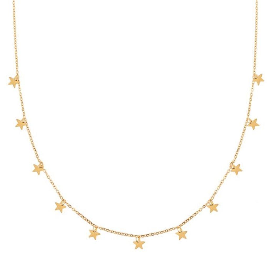 Essentialistics Essentialistics ketting sterren - goud