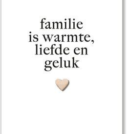 By romi By Romi Wenskaart / Familie is warmte, liefde en geluk / Hartje