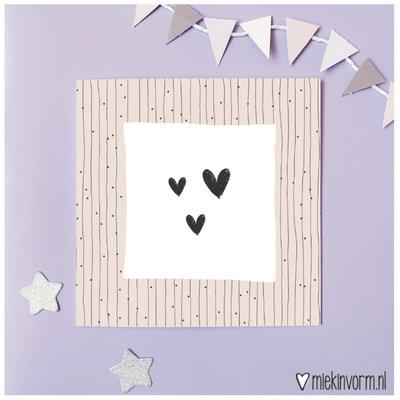 Miek in vorm Miek in vorm: dubbele kaart hartjes