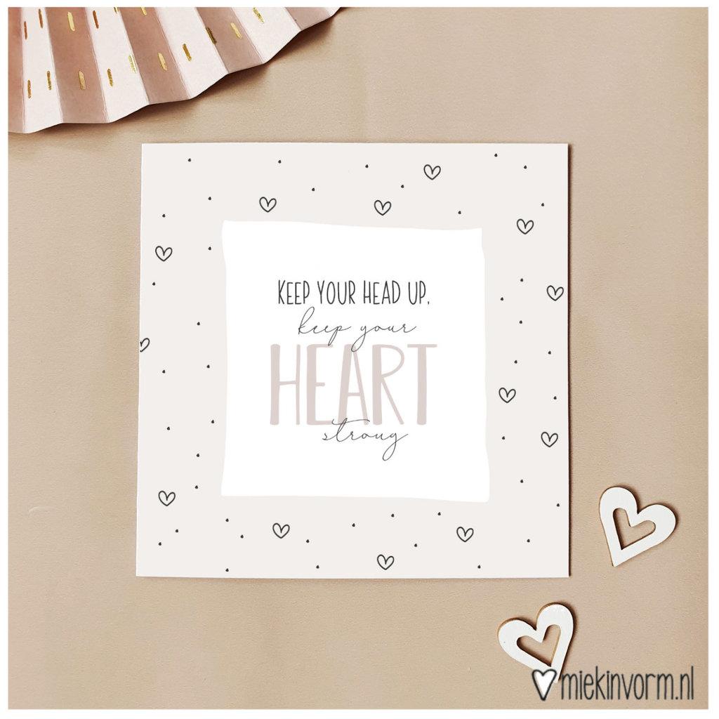 Miek in vorm Miek in vorm: dubbele kaart keep your heart strong