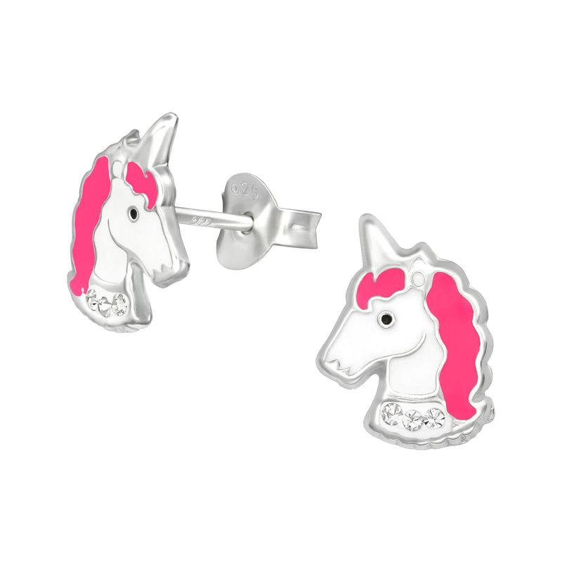 Precious jewels Precious jewels: oorstekers unicorns hoofd