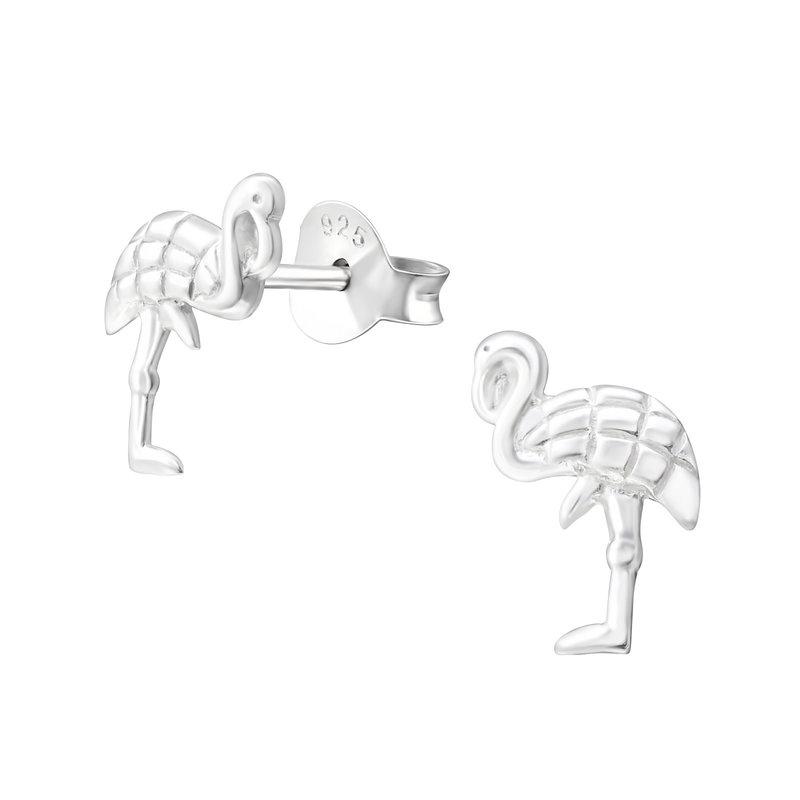 Precious jewels Precious jewels oorbellen zilver flamingo