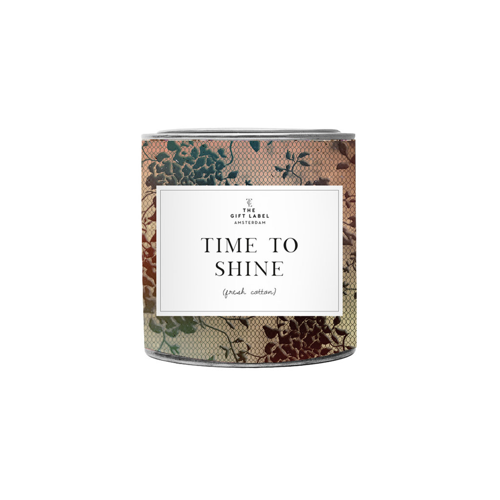 The gift label the gift label geurkaars groot  Time to shine - jasmine vanilla