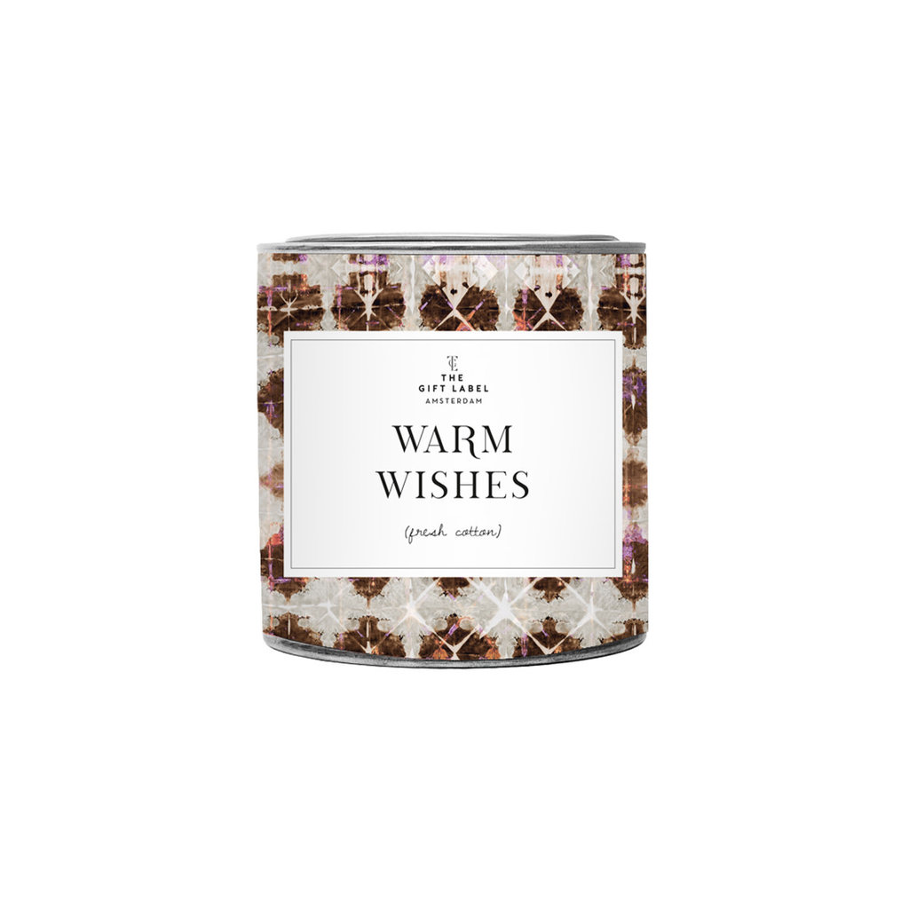 The gift label the gift label geurkaars groot Warm wishes - fresh cotton