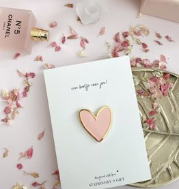 Stationery & gift Stationery & gift Pin | Een hartje voor jou! roze