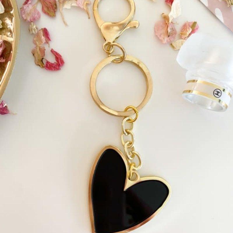 Stationery & gift Stationery & gift Sleutelhanger | Een hartje van goud | Zwart