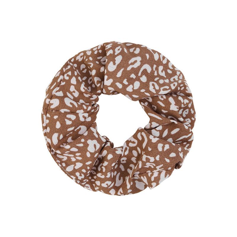 Yehwang Scrunchie bruin/wit