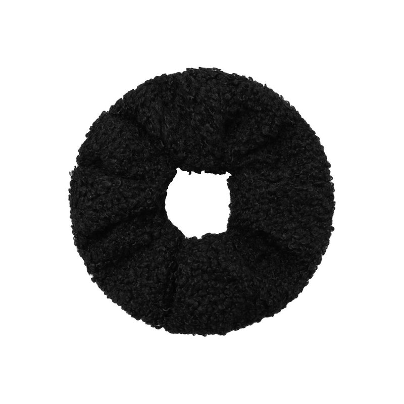 Yehwang Scrunchie soft teddy zwart