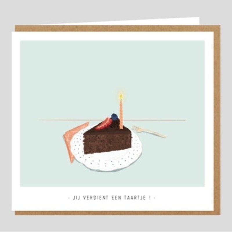 Studio Mie Studio Mie: kaart Jij verdient een taartje