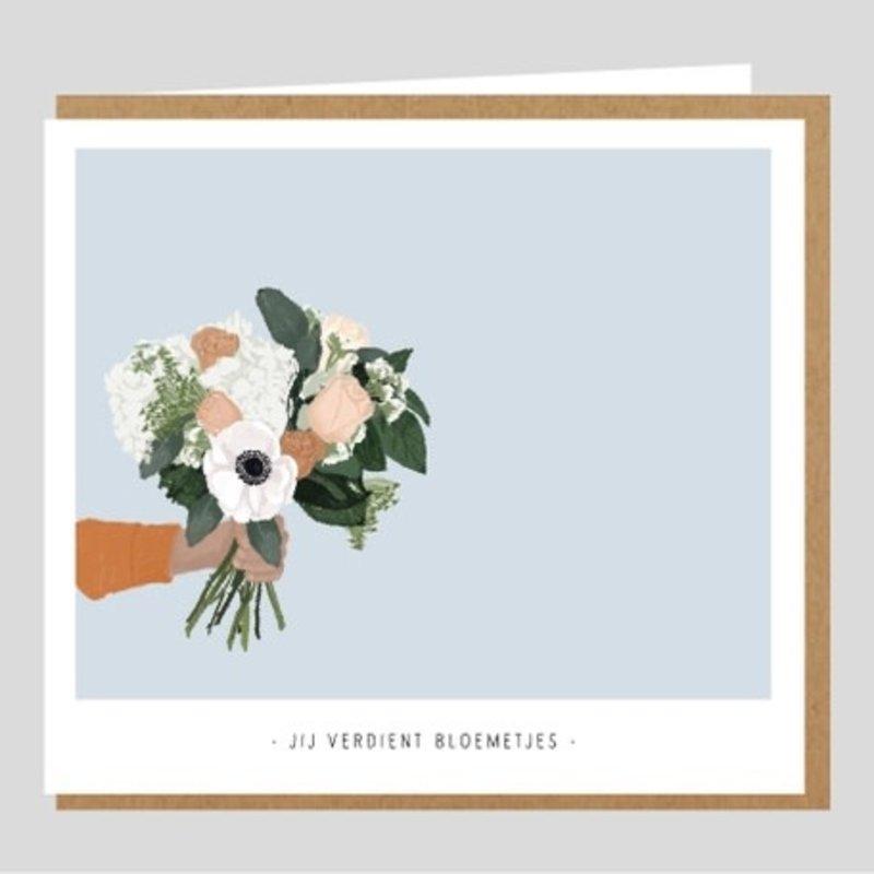 Studio Mie Studio Mie: kaart Jij verdient bloemetjes