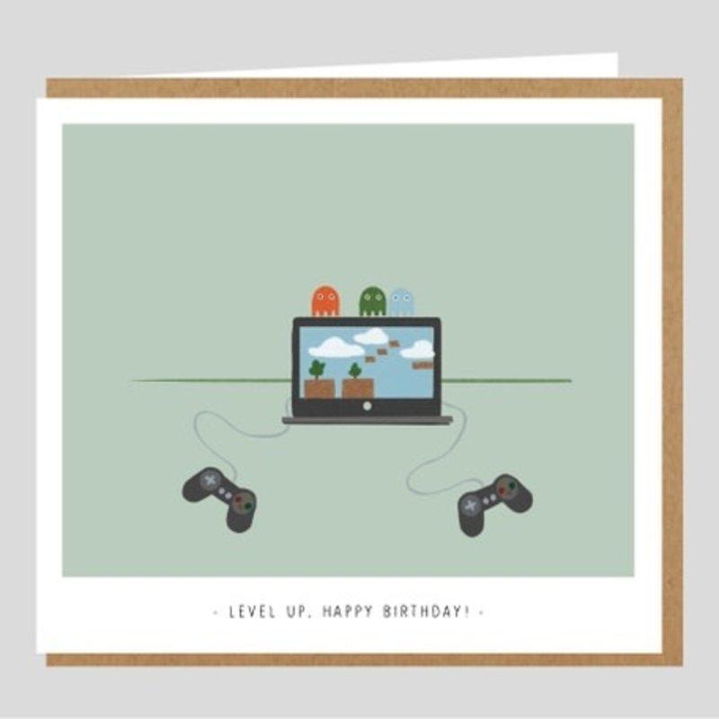 Studio Mie Studio Mie: kaart level up, happy birthday