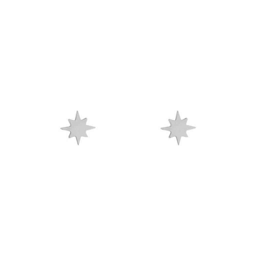 Essentialistics Essentialistics oorbellen stud noordster zilver