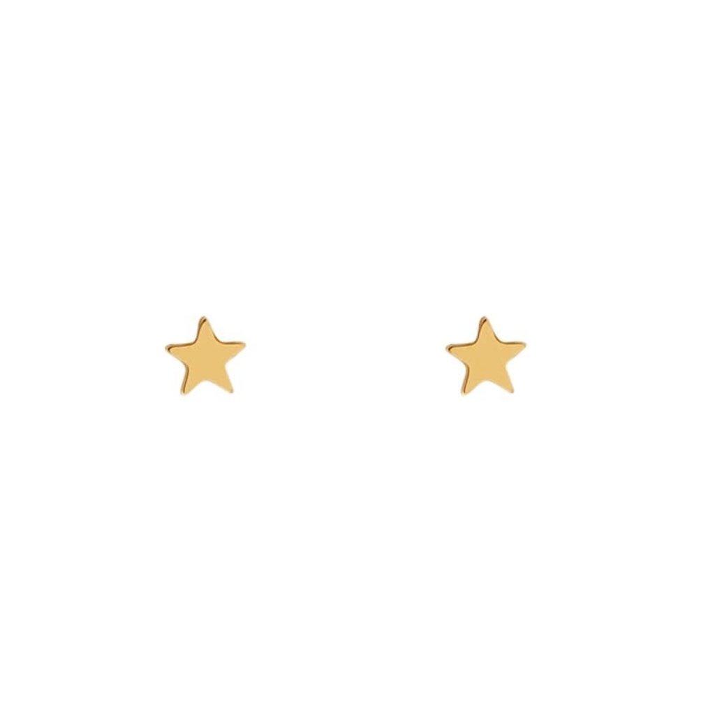 Essentialistics Essentialistics oorbellen stud ster goud