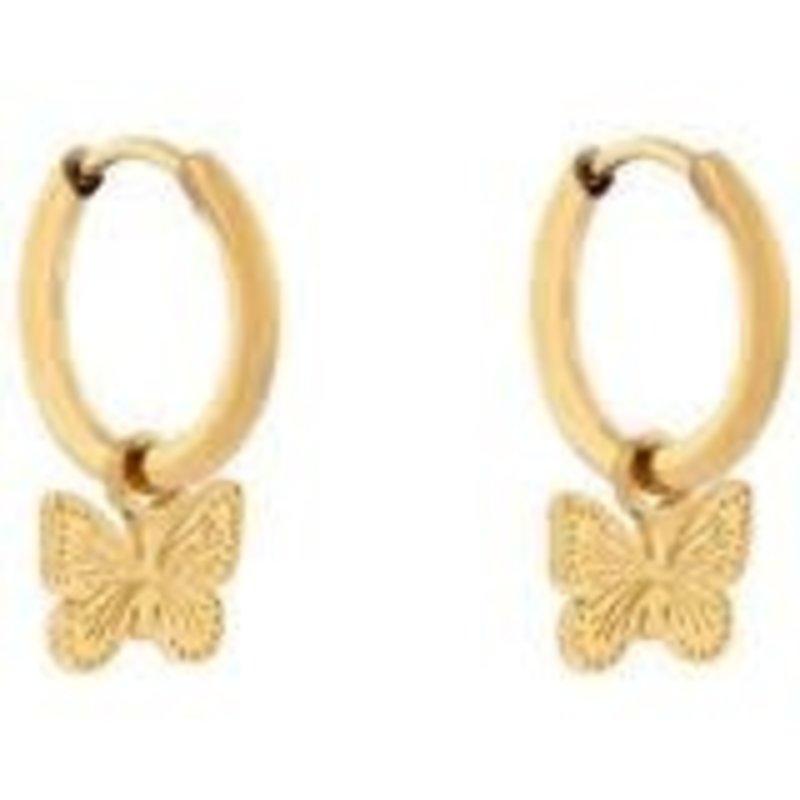 Essentialistics Essentialistics oorbellen minimalistic vlinder goud
