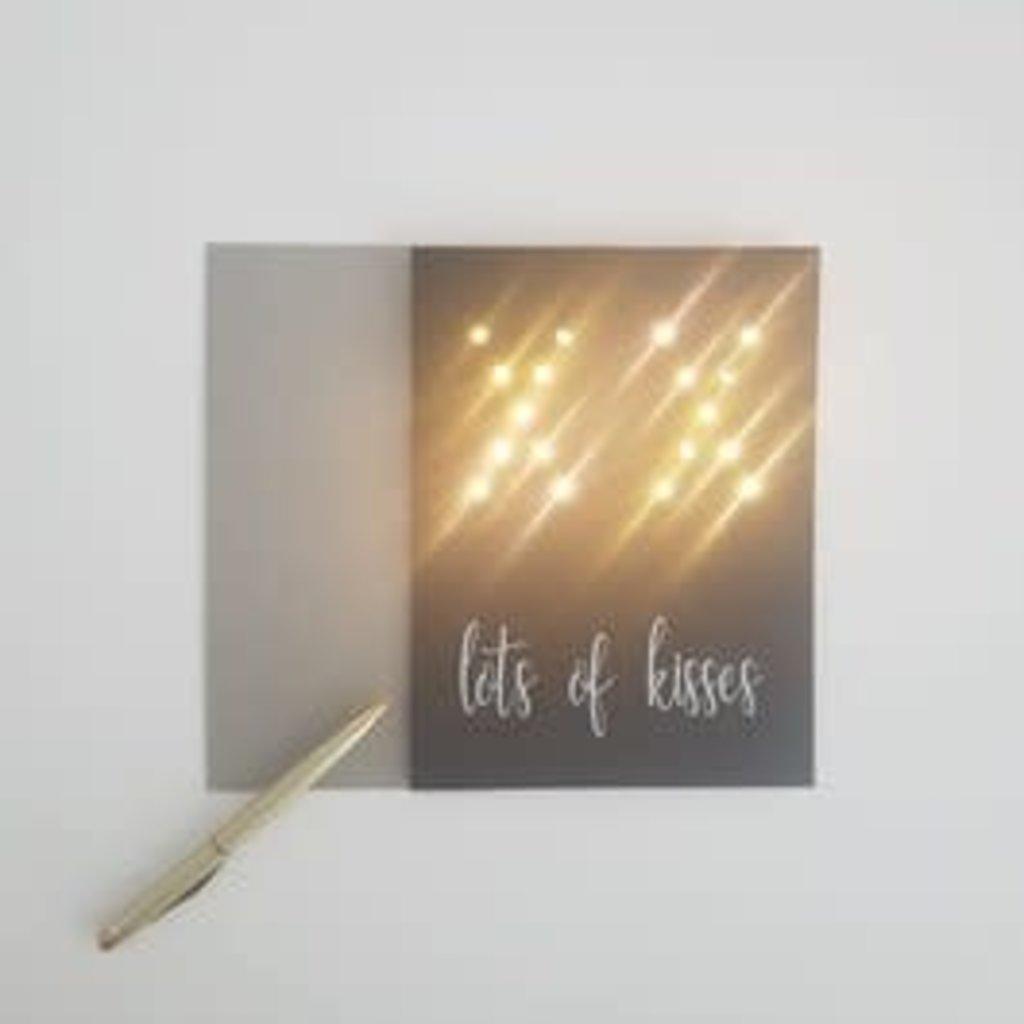 Lizaas Lizaas: Lichtjeskaart XX Lots of kisses zwart