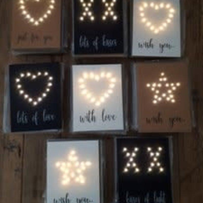 Lizaas Lizaas: Lichtjeskaart ster Kisses of light kraft