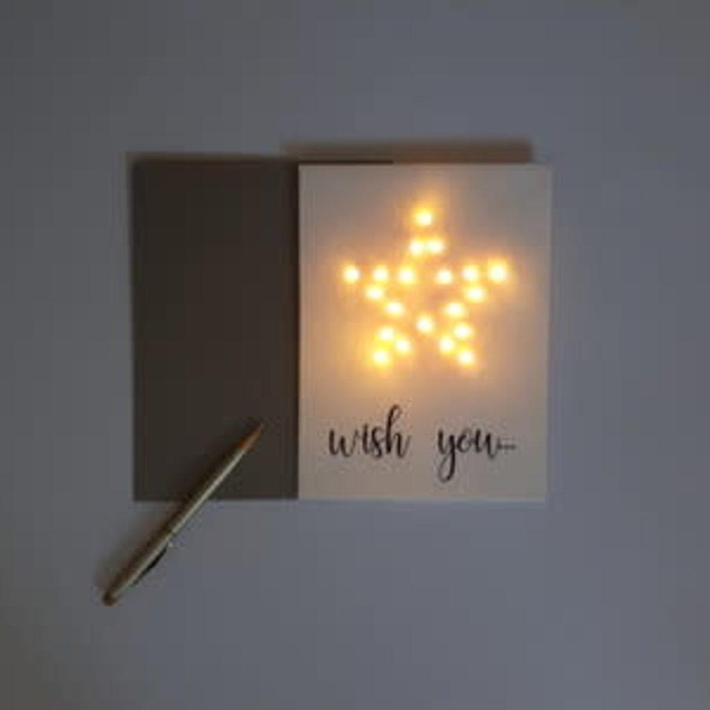 Lizaas Lizaas: Lichtjeskaart ster Wish you wit