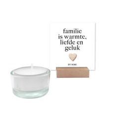 By romi By romi: Wensdoosje + kaarsje Familie is warmte, liefde en geluk