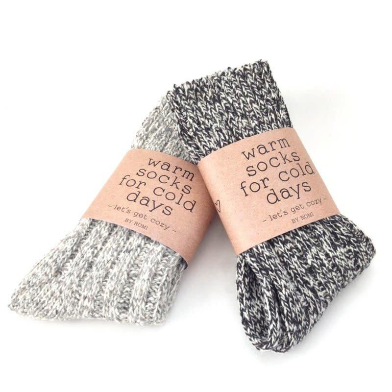 By romi By romi: Warm socks for cold days / Sokken lichtgrijs