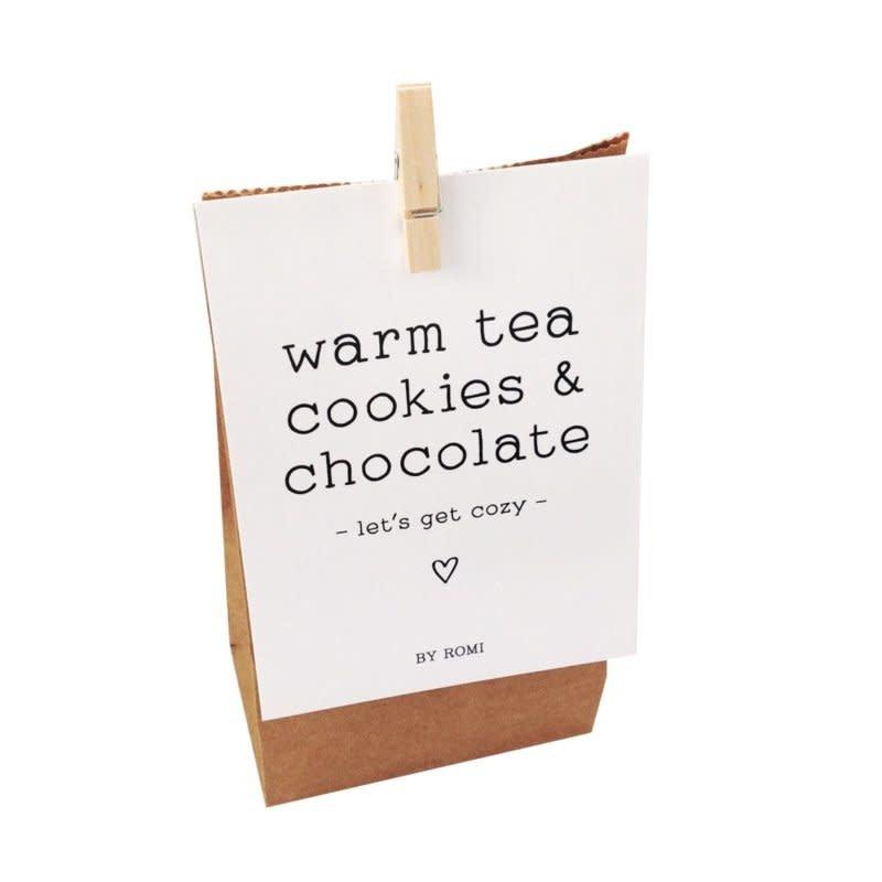 By romi By romi: Warm tea cookies & chocolate / Zakje