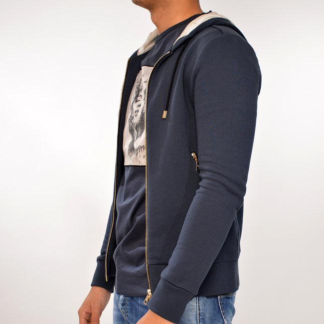 Limitato Limitato blauw  vest met capuchon