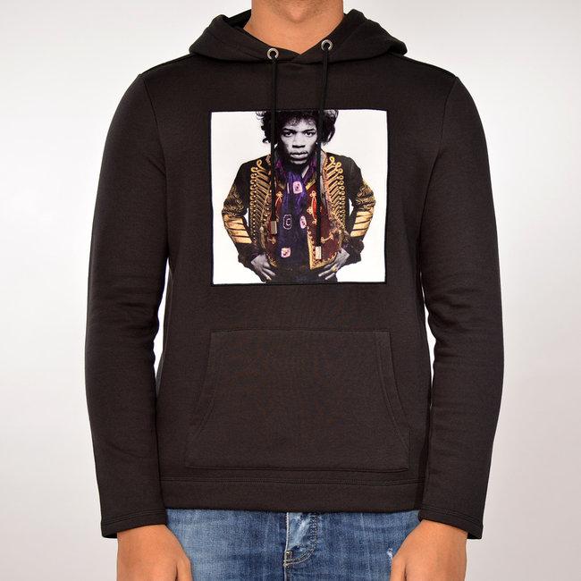 Limitato Limitato zwarte hoodie met print
