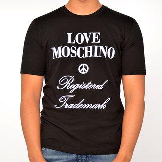 Moschino Moschino t-shirt zwart met print