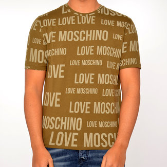 Moschino Moschino  t-shirt groen met print