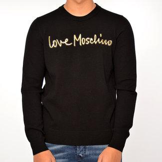 Moschino Moschino sweater zwart met witte print