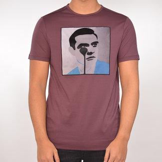 Limitato Limitato T-shirt bordeau met print