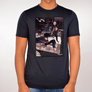 Limitato Limitato T-shirt donker blauw met print