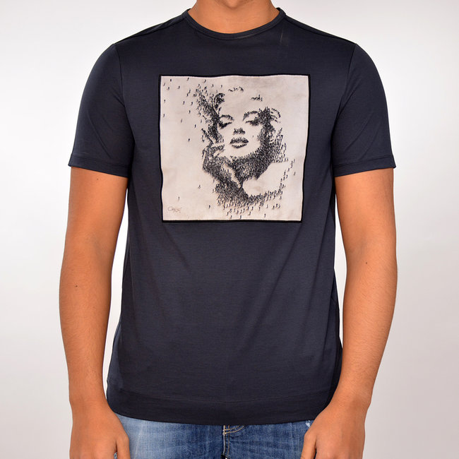 Limitato Limitato T-shirt blauw met print