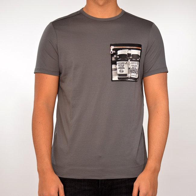 Limitato Limitato T-shirt donker grijs met print