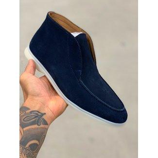 H.O.N High top suede schoen H.O.N donker blauw
