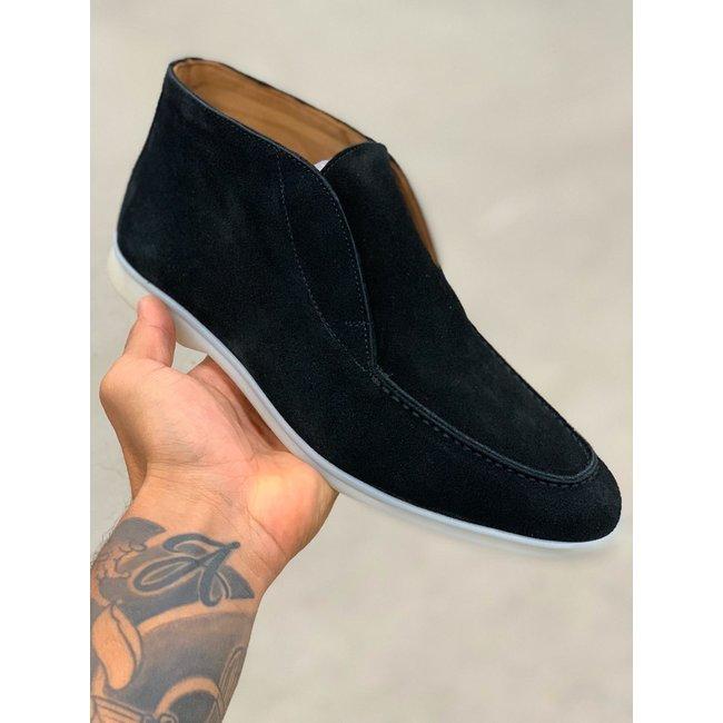 H.O.N High top suede schoen H.O.N zwart