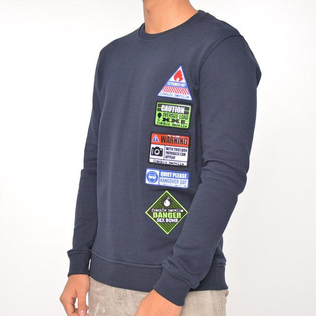Frankie Morello Frankie Morello sweater blauw