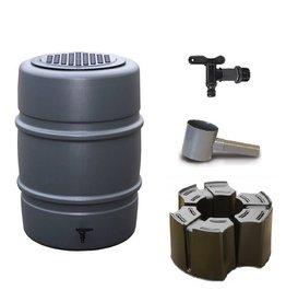 Harcostar regenton 168 liter grijs (Voordeelset)