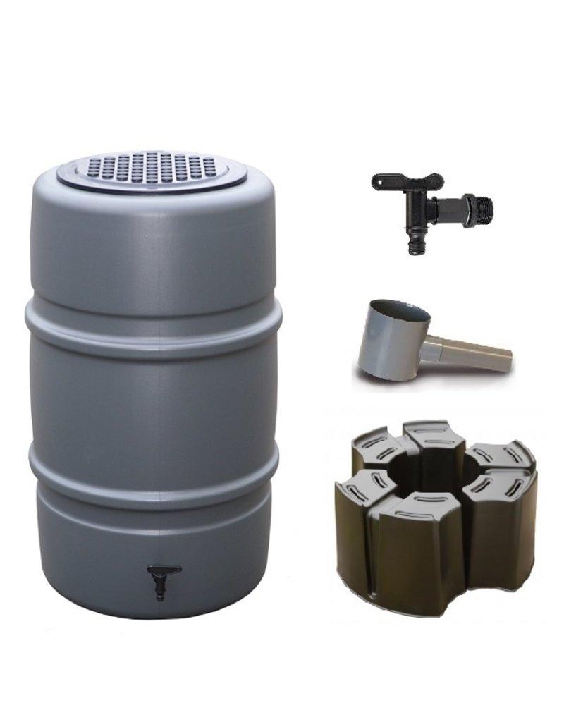 Harcostar regenton 227 liter grijs (Voordeelset)