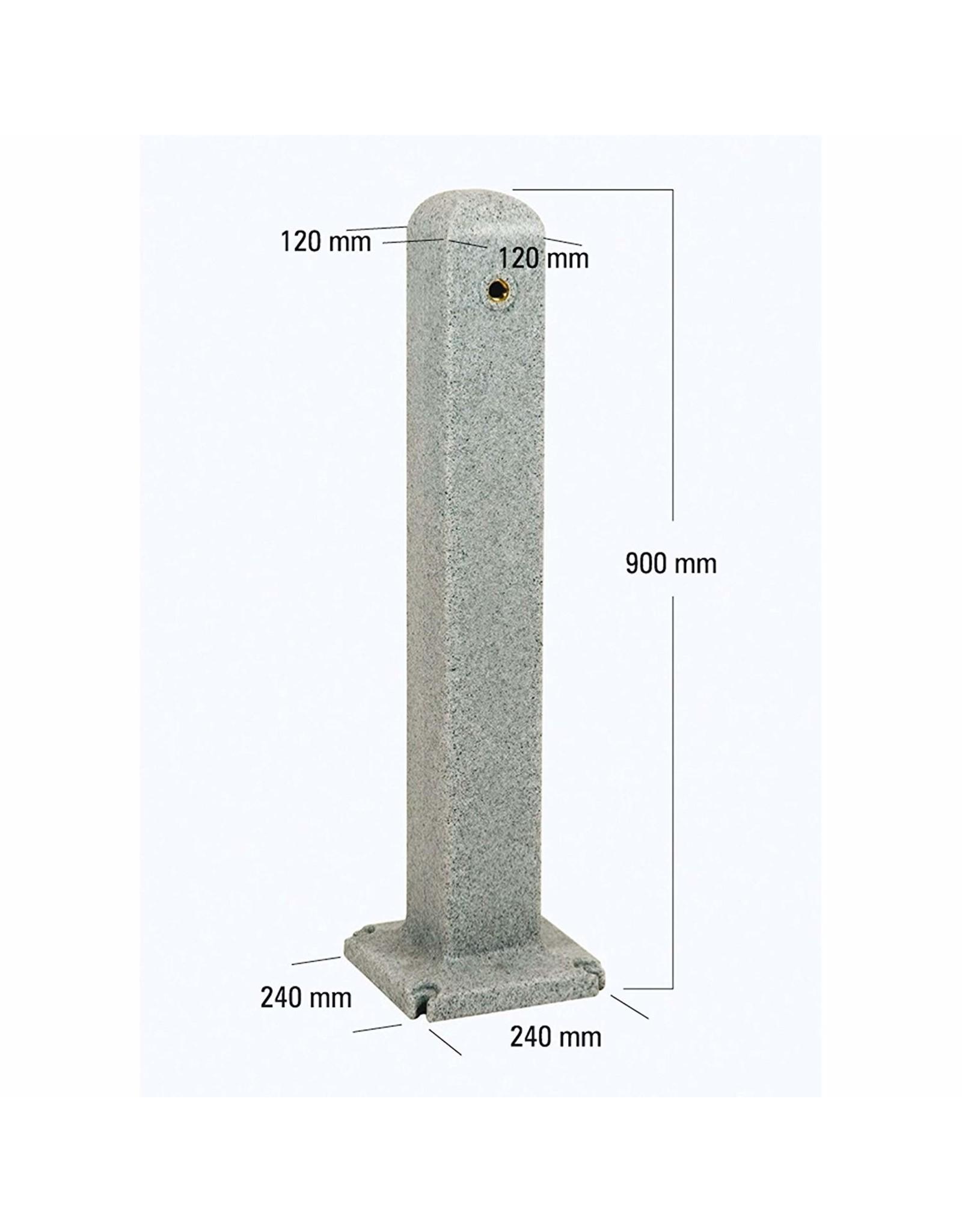Water pilaar effen graniet effect (inc.kraan)
