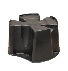 BeGreen zwarte regentonstandaard 190/200 liter