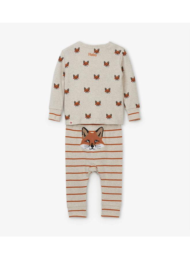 Hatley jongens 2-delige pyjama Clever Fox