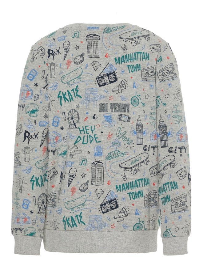Name-It Grijze Jongens Sweater Kriss