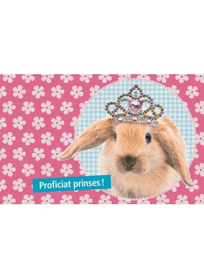 Wenskaart -  Proficiat Prinses