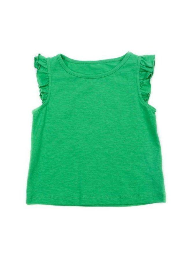 Lily Balou Eline Top Slub Jersey Grass Green